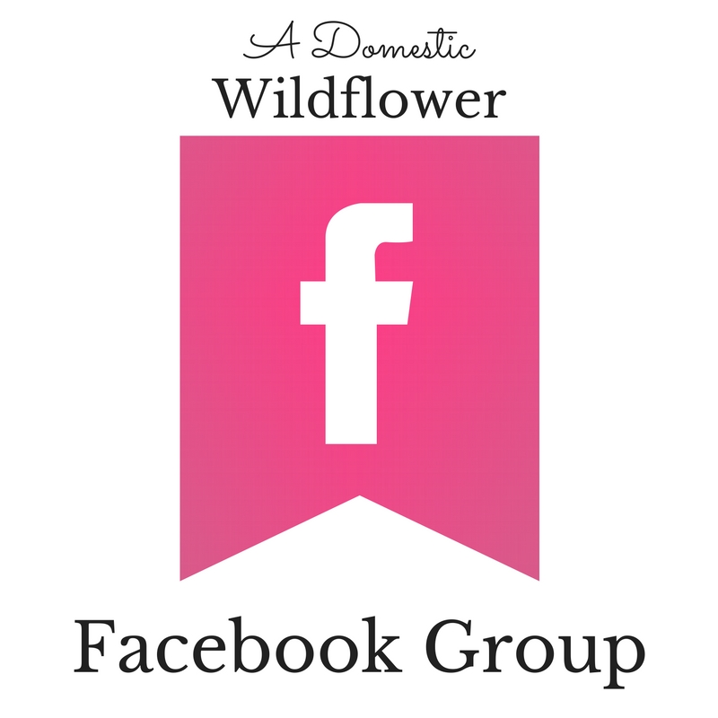 Join The Domestic Wildflower Subscriber's Facebook Group! Learn more about creating handmade and homemade for your home & plate!